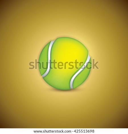 A realistic textured tennis ball. - stock vector