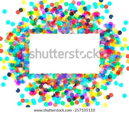 a rectangular frame of colored confetti. 10 eps - stock vector
