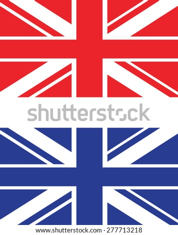 a red and blue uk flag - stock vector