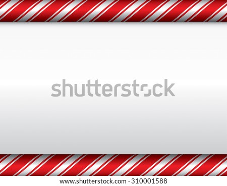 A red and white candy cane theme Christmas background. Vector EPS 10 available. EPS contains transparencies. - stock vector