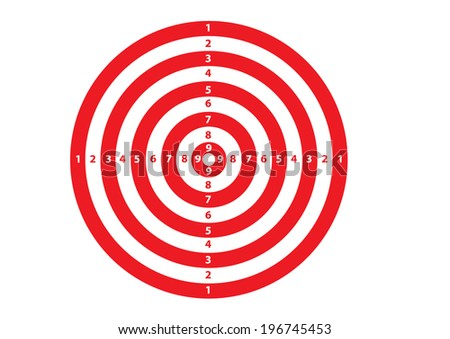 A Red and White Target. Vector