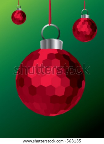 A Red Christmas Decoration - stock vector