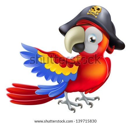 Parrot Cartoon Pictures a Red Parrot Cartoon Wearing a