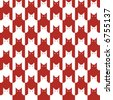 "A repeating, seamless ""cats"" pattern in red and white. - stock vector"