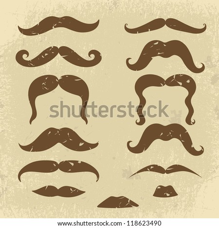 A Retro style mustaches collection