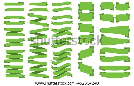 A Ribbon Banner Collection - stock vector