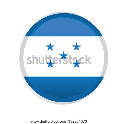 A round badge with the flag of honduras on a white background