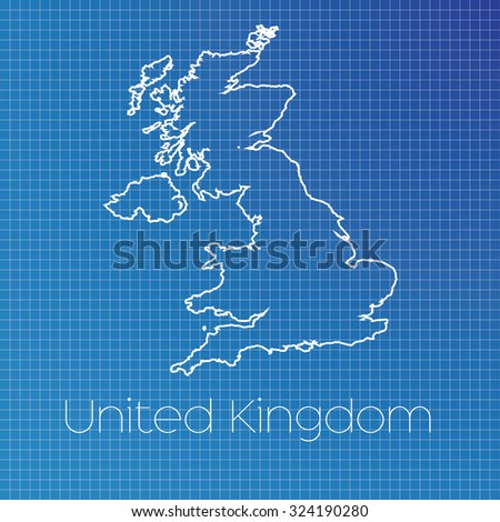 Schematic Outline Country United Kingdom Stock Photo (Photo, Vector ...