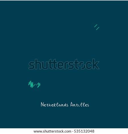 Netherlands Antilles Map Stock Images RoyaltyFree Images