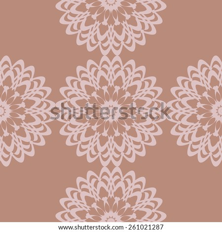 A seamless background with ornament. Wallpaper pattern