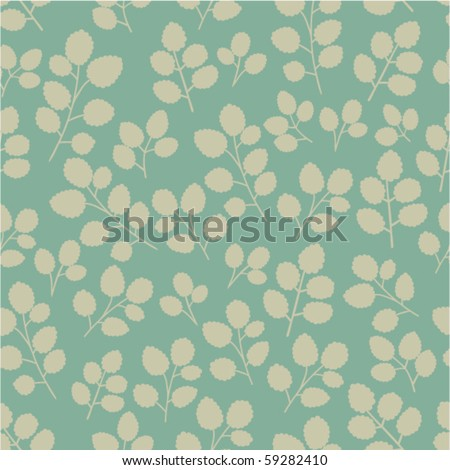 A seamless pattern with branches. - stock vector