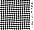"A seamless ""pixel"" houndstooth pattern in in white and black. - stock vector"