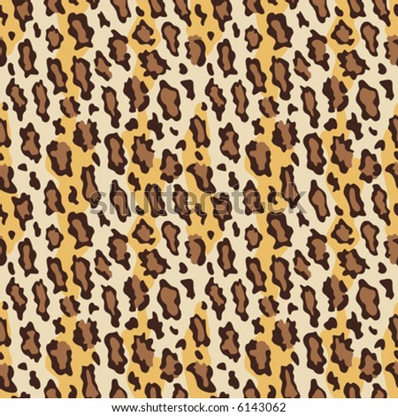 A seamless vector leopard fur pattern in current fashion colors.