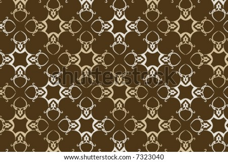 a seamless vector wallpaper in earth and green tones, check my portfolio for more great vectors! - stock vector