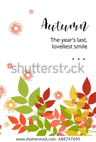 Season greeting card poster sample quote stock vector 688747690 a season greeting card or poster with a sample quote bright autumn foliage vivid m4hsunfo