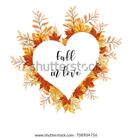 A Season Greeting Card With Bright Autumn Leaves Arranged As A Wreath And A  Sample Quote