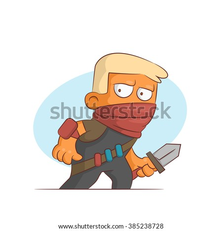 A series of characters on the theme of role-playing games. Vector illustration.Killer - stock vector