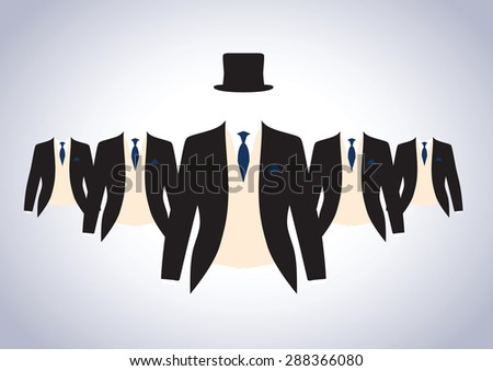 a set of black and cream suits - stock vector