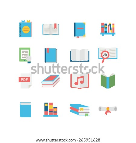 A Set of Book Icons - stock vector