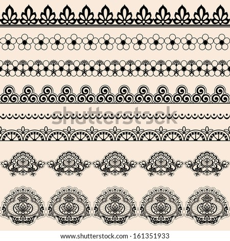 A set of brushes for illustrator lace.