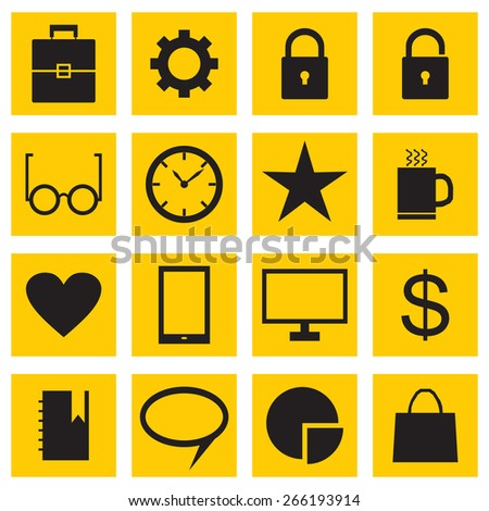 A set of business icons. Vector illustration. - stock vector