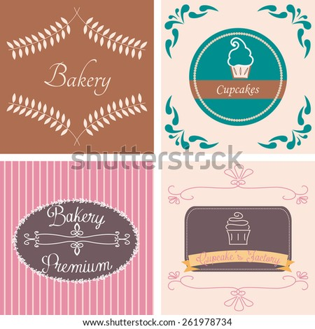 a set of colored backgrounds with different label designs