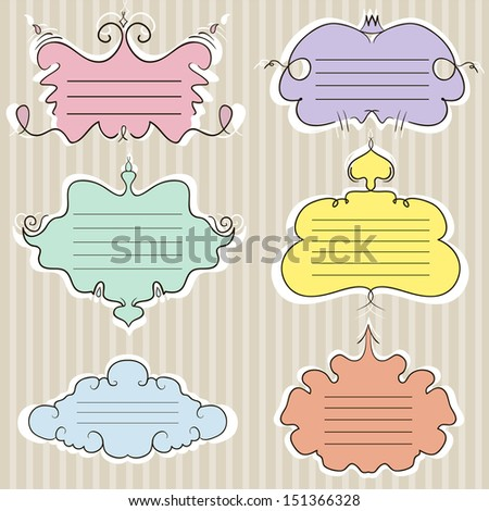 A set of colored frames. Sticker. vector illustration - stock vector