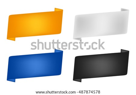 A set of colored ribbons for label. eps 10 vector illustration