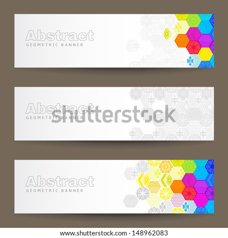 A set of colorful abstract banners