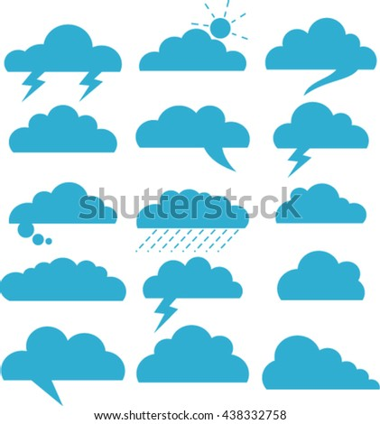 A set of comic bubbles speech and clouds.