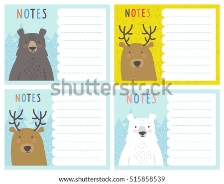 christmas note card templates