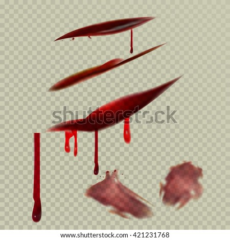 A set of cuts, bruises and bruises. Using the transparency effect to any background color of the skin. Vector eps10. - stock vector