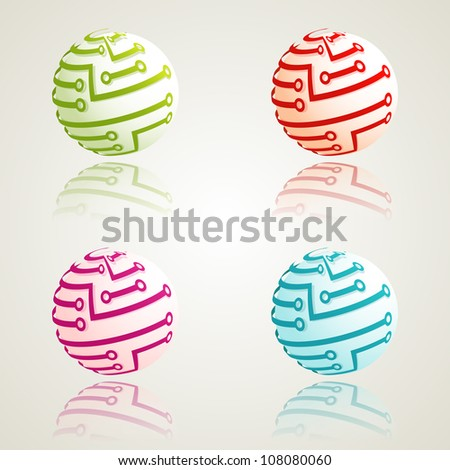 A set of 3d digital icons. Vector illustration. Eps10. - stock vector