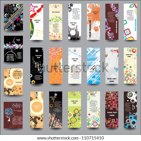 A set of flyers and banners - stock vector