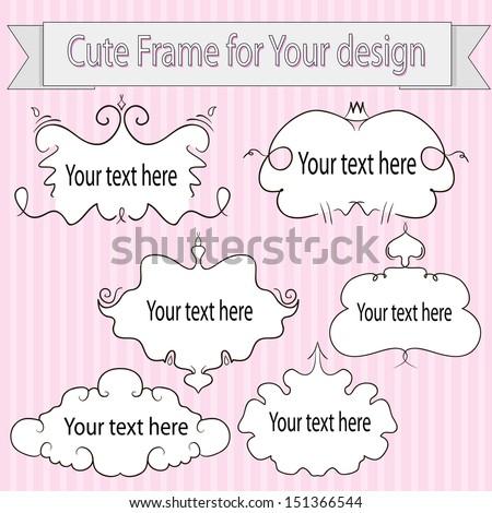 A set of frames. Sticker. vector illustration - stock vector