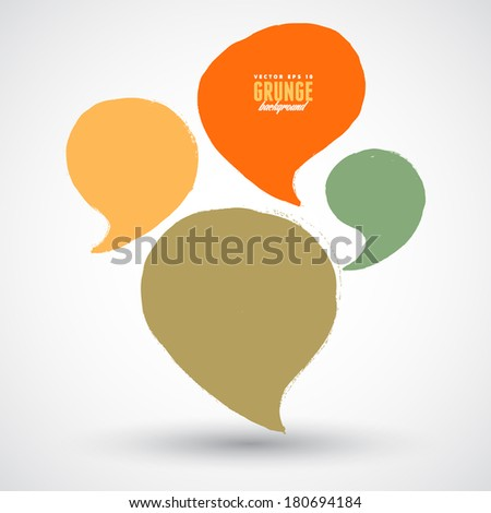 A set of grunge speech bubbles - stock vector