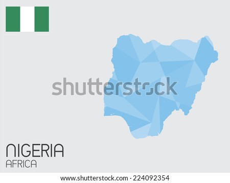A Set of Infographic Elements for the Country of Nigeria - stock vector