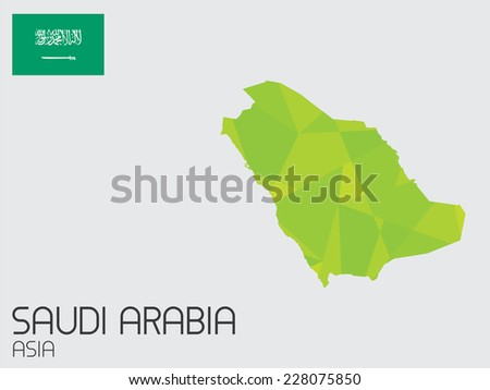 A Set of Infographic Elements for the Country of Saudi Arabia - stock vector