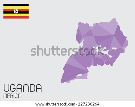 A Set of Infographic Elements for the Country of Uganda - stock vector