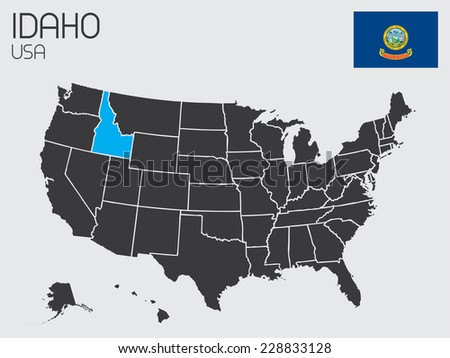 A Set of Infographic Elements for the State of Idaho - stock vector