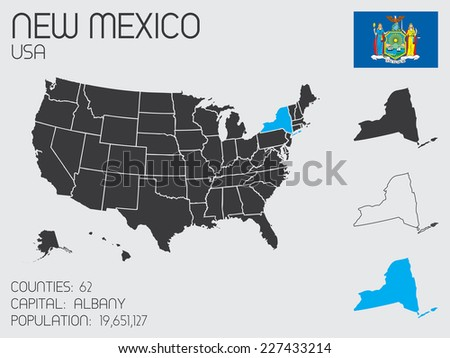 A Set of Infographic Elements for the State of New York - stock vector
