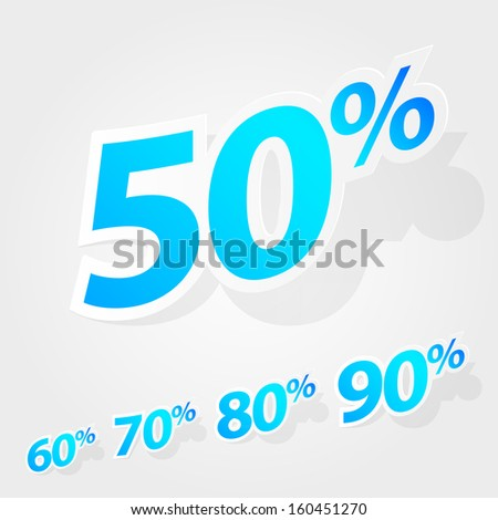 A set of labels for special offers and sales discount. Eps 10 vector illustration. Used transparency layers of shadows - stock vector