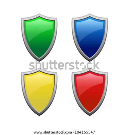 A set of medieval shields - vector