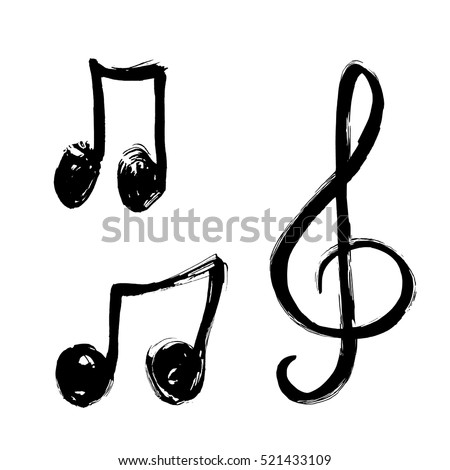 Set music notes icon music note background hand a set of music notes icon music note background hand drawn music notes vector voltagebd Gallery
