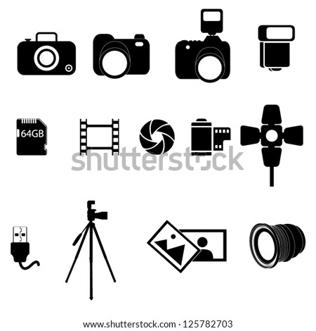 Photography icon stock images royalty free images - Clipart cinema gratuit ...