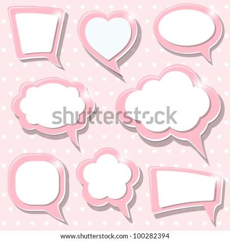 A set of Pink frames. Vector illustration. Eps10. - stock vector