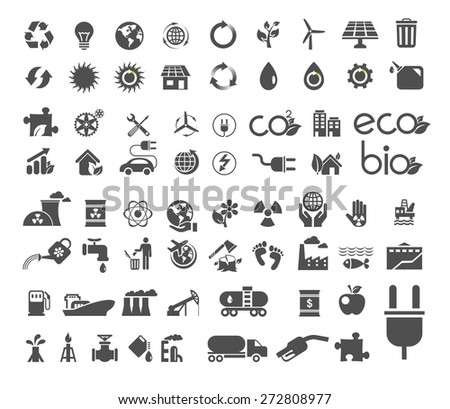 A set of recycle, ecology, global nature icon. Vector flat design illustration.