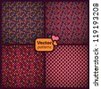 A set of 4 seamless ethnic patterns. Vector backgrounds. - stock vector