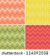 A set of seamless retro Zig zag patterns. Abstract geometric background. - stock vector