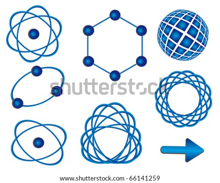A set of signs for technological design. Vector illustration - stock vector